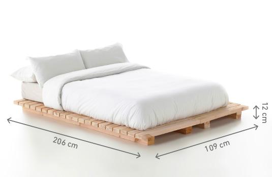 Cama jap n individual boltambolta for Medidas para cama individual